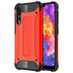Military Defender Heavy Duty Shockproof Case - Huawei P20 Pro - Red